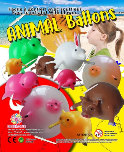 20X25 CM - animal ballons  copie