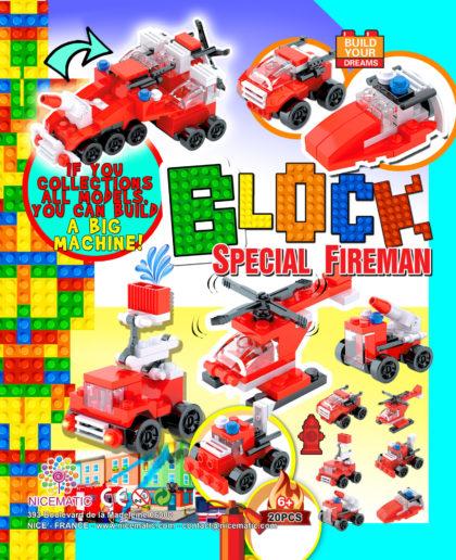 block fireman 20X25 CM-65 mm copie